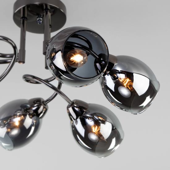 Фото №3 Потолочная люстра со стеклянными плафонами 30171/6 черный жемчуг