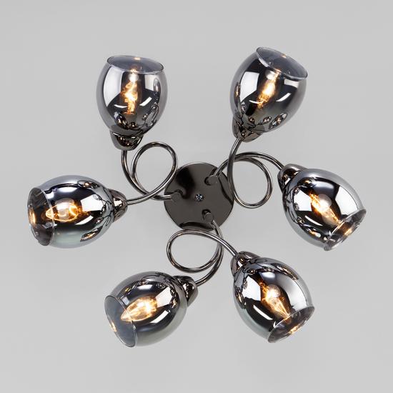 Фото №4 Потолочная люстра со стеклянными плафонами 30171/6 черный жемчуг