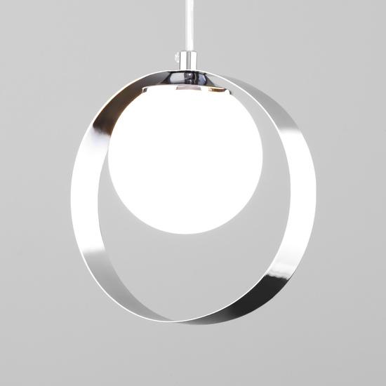 Фото №2 Подвесной светильник со стеклянным плафоном 50205/1 хром