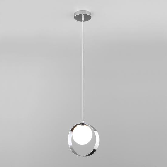 Фото №3 Подвесной светильник со стеклянным плафоном 50205/1 хром