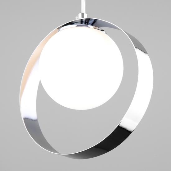 Фото №4 Подвесной светильник со стеклянным плафоном 50205/1 хром