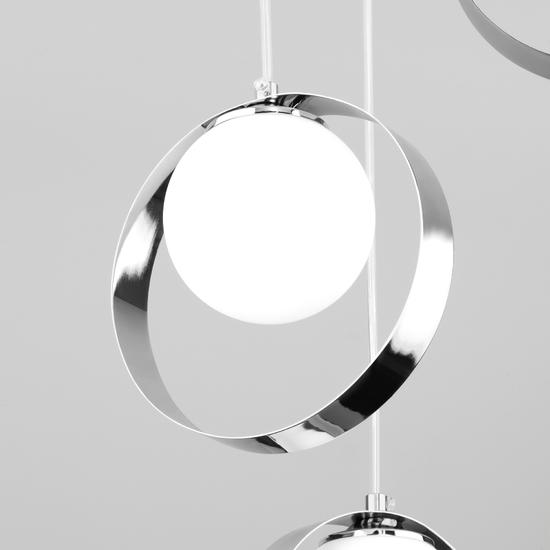 Фото №4 Потолочный светильник со стеклянными плафонами 50205/3 хром