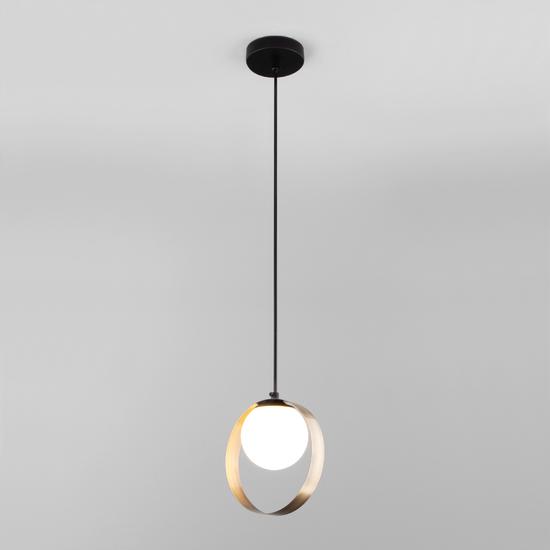 Фото №3 Подвесной светильник со стеклянным плафоном 50205/1 черный/бронза