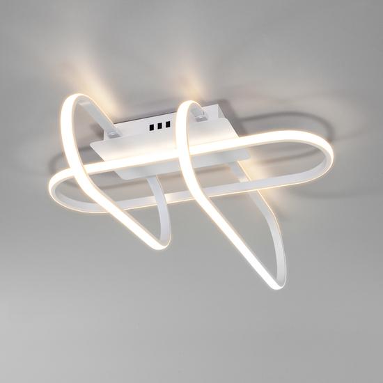 Фото №3 Потолочный светодиодный светильник с пультом управления 90139/3 белый