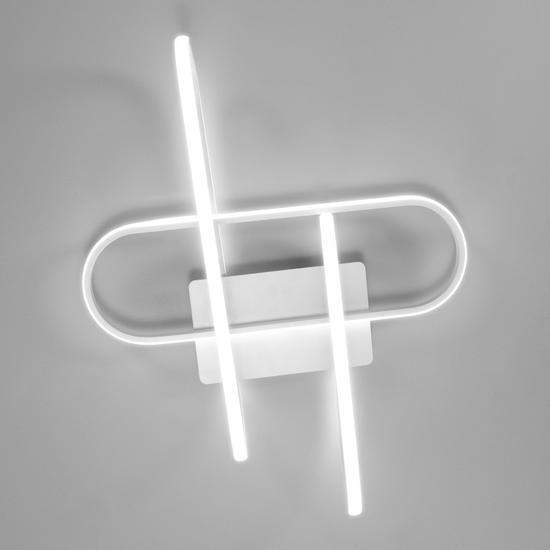 Фото №5 Потолочный светодиодный светильник с пультом управления 90139/3 белый