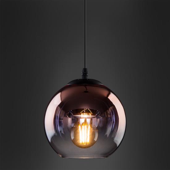 Фото №4 Подвесной светильник со стеклянным плафоном 50200/1 медь