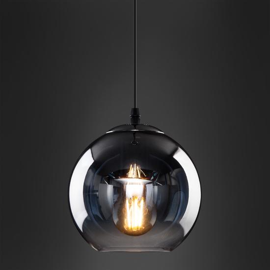 Фото №4 Подвесной светильник со стеклянным плафоном 50200/1 дымчатый