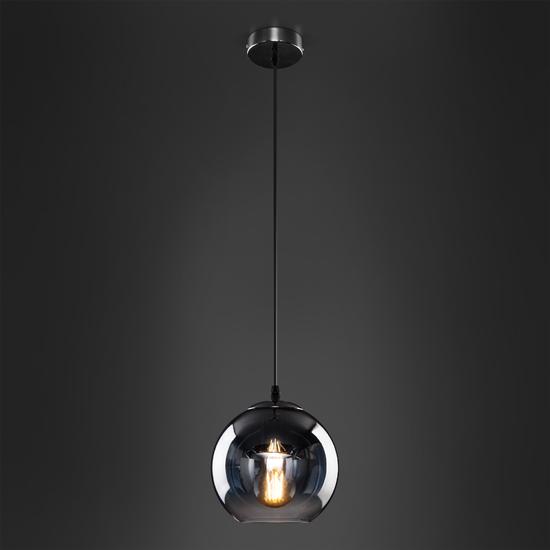 Фото №5 Подвесной светильник со стеклянным плафоном 50200/1 дымчатый