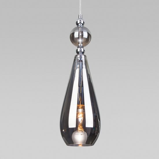 Фото №2 Подвесной светильник со стеклянным плафоном 50202/1 дымчатый