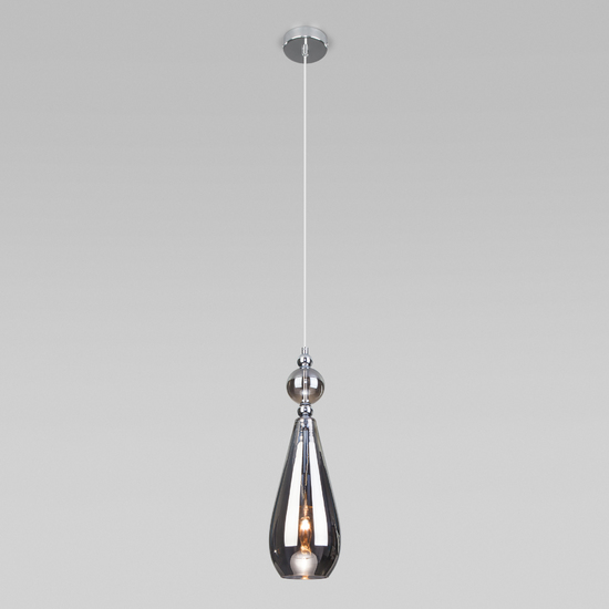 Фото №3 Подвесной светильник со стеклянным плафоном 50202/1 дымчатый