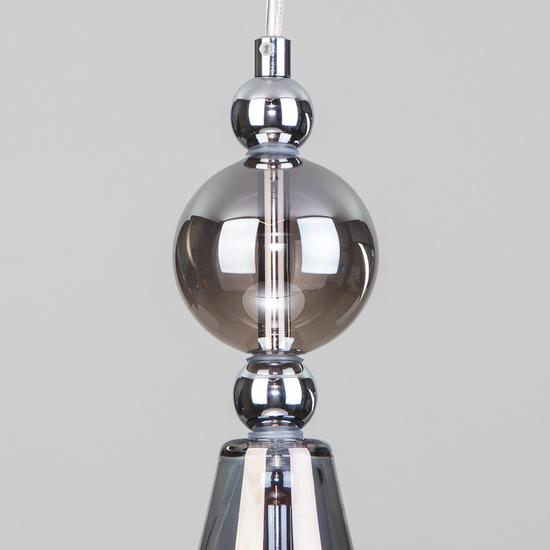 Фото №4 Подвесной светильник со стеклянным плафоном 50202/1 дымчатый