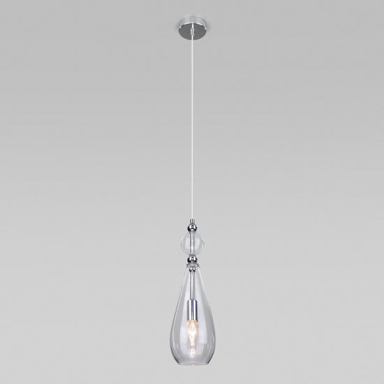Фото №3 Подвесной светильник со стеклянным плафоном 50202/1 прозрачный