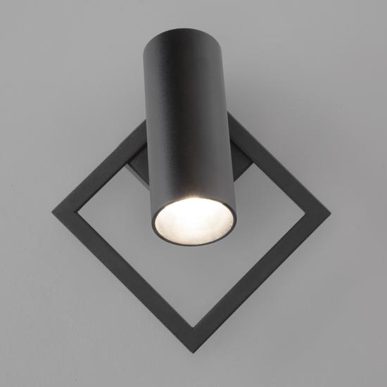 Фото №4 Настенный светодиодный светильник 20091/1 LED черный