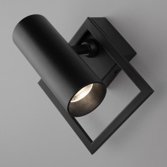Фото №7 Настенный светодиодный светильник 20091/1 LED черный