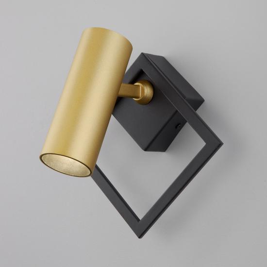 Фото №2 Настенный светодиодный светильник 20091/1 LED черный/ золото