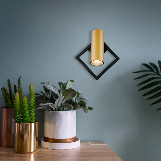 Фото №3 Настенный светодиодный светильник 20091/1 LED черный/ золото