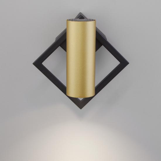 Фото №4 Настенный светодиодный светильник 20091/1 LED черный/ золото