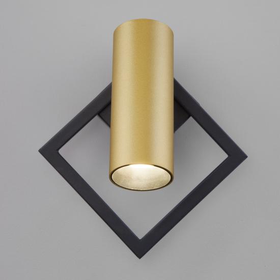 Фото №5 Настенный светодиодный светильник 20091/1 LED черный/ золото