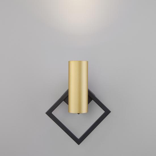 Фото №6 Настенный светодиодный светильник 20091/1 LED черный/ золото