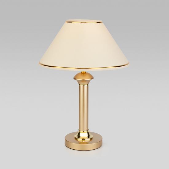 Фото №2 Настольная лампа с абажуром 60019/1 перламутровое золото