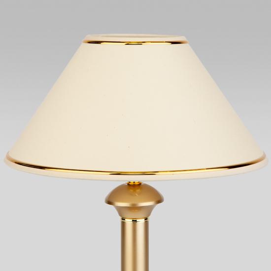 Фото №5 Настольная лампа с абажуром 60019/1 перламутровое золото