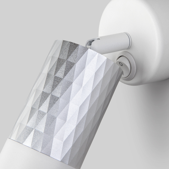 Фото №3 Настенный светильник с выключателем 20088/1 белый/серебро