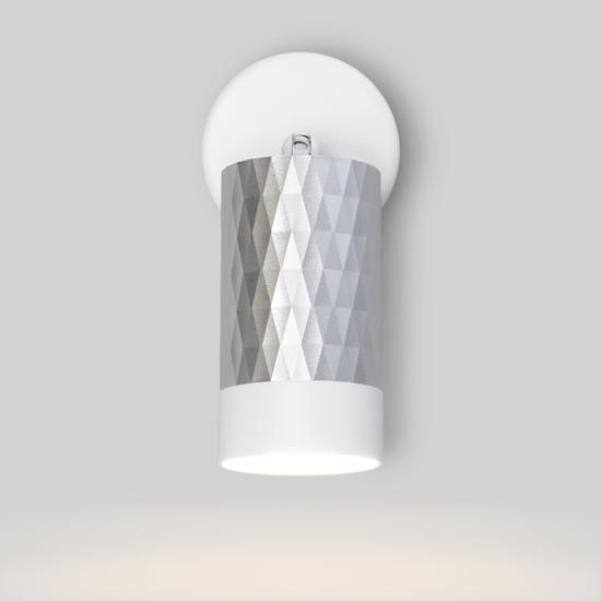 Фото №4 Настенный светильник с выключателем 20088/1 белый/серебро