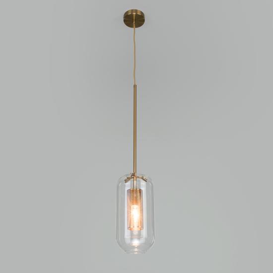 Фото №3 Подвесной светильник со стеклянным плафоном 50201/1 бронза