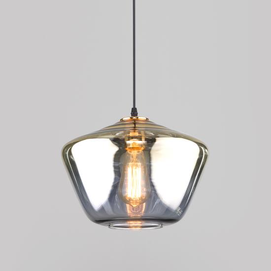 Фото №2 Подвесной светильник со стеклянным плафоном 50199/1 золото