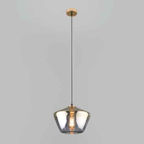Фото №3 Подвесной светильник со стеклянным плафоном 50199/1 золото