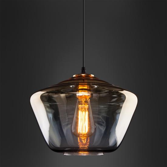 Фото №4 Подвесной светильник со стеклянным плафоном 50199/1 золото