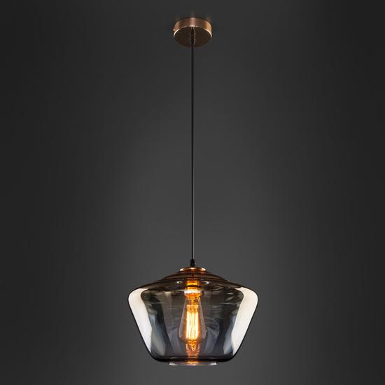 Фото №5 Подвесной светильник со стеклянным плафоном 50199/1 золото