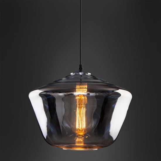 Фото №4 Подвесной светильник со стеклянным плафоном 50199/1 хром