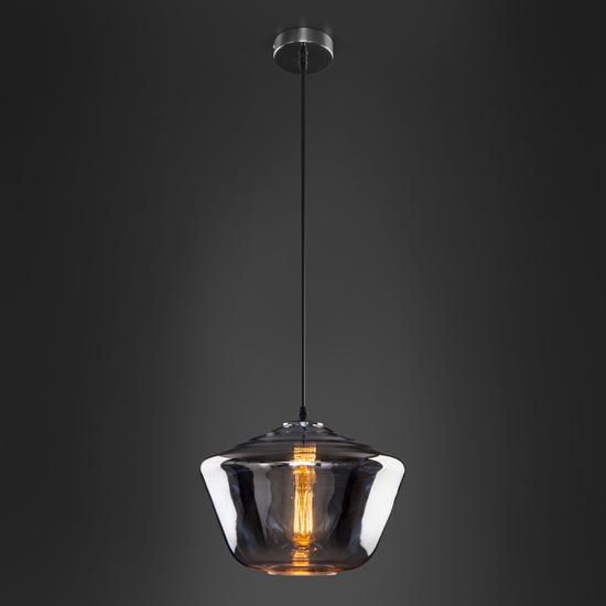 Фото №5 Подвесной светильник со стеклянным плафоном 50199/1 хром