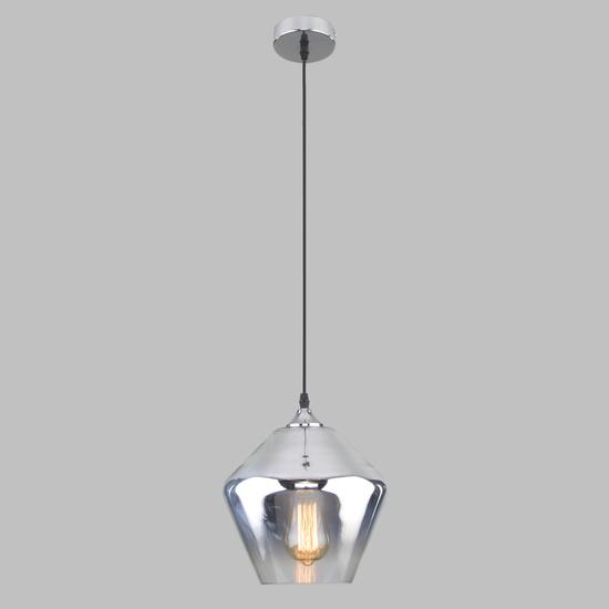 Фото №3 Подвесной светильник со стеклянным плафоном 50198/1 хром