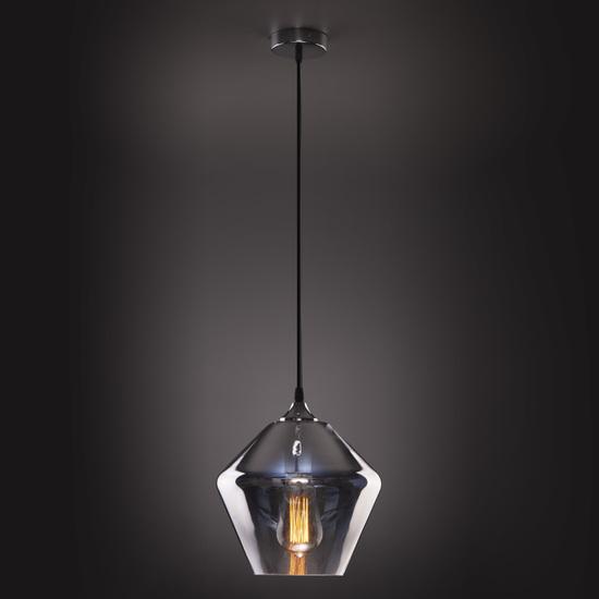 Фото №4 Подвесной светильник со стеклянным плафоном 50198/1 хром