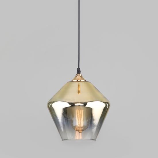 Фото №2 Подвесной светильник со стеклянным плафоном 50198/1 золото