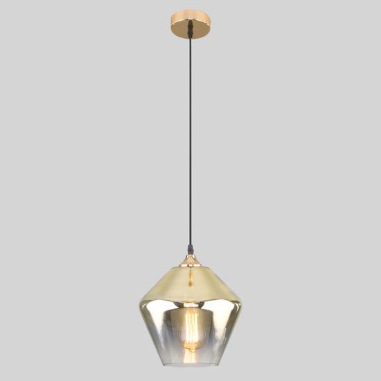 Фото №3 Подвесной светильник со стеклянным плафоном 50198/1 золото
