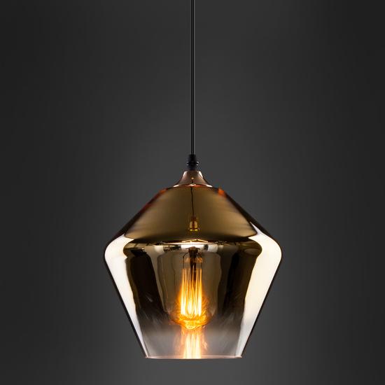 Фото №4 Подвесной светильник со стеклянным плафоном 50198/1 золото