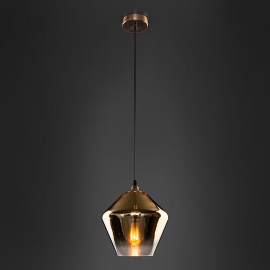 Фото №5 Подвесной светильник со стеклянным плафоном 50198/1 золото