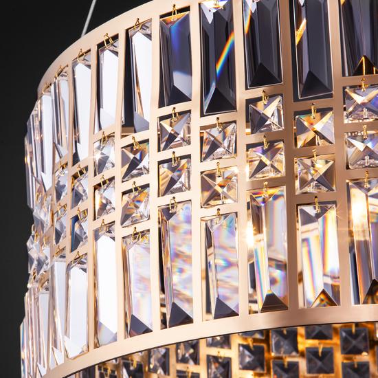 Фото №4 Подвесная люстра с хрусталем 10116/5 золото/прозрачный хрусталь Strotskis