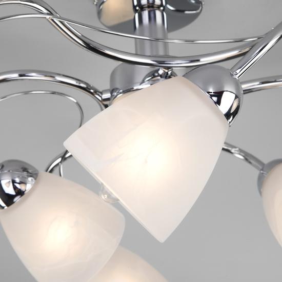 Фото №4 Потолочный светильник со стеклянными плафонами 30169/6 хром