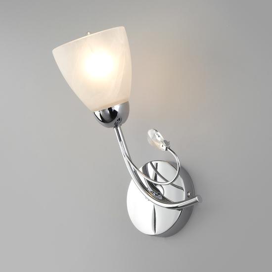 Фото №2 Настенный светильник со стеклянным плафоном 30169/1 хром