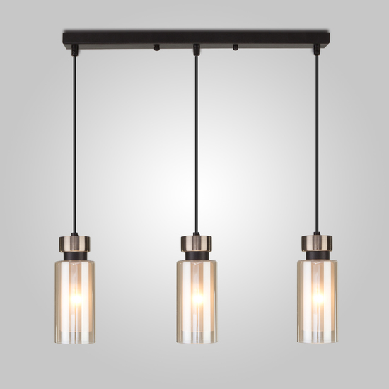 Фото №3 Подвесной светильник со стеклянными плафонами 50115/3 черный