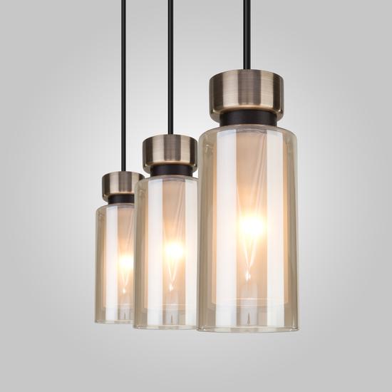 Фото №4 Подвесной светильник со стеклянными плафонами 50115/3 черный