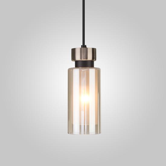 Фото №2 Подвесной светильник со стеклянным плафоном 50115/1 черный