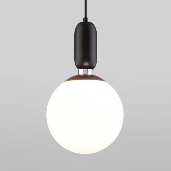 Фото №2 Подвесной светильник со стеклянным плафоном 50197/1 черный