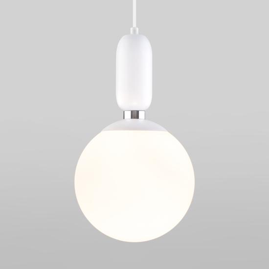 Фото №2 Подвесной светильник со стеклянным плафоном 50197/1 белый