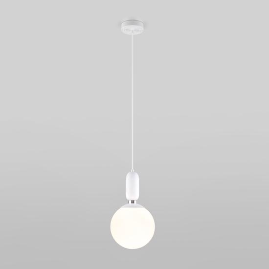 Фото №3 Подвесной светильник со стеклянным плафоном 50197/1 белый