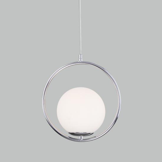 Фото №2 Подвесной светильник со стеклянным плафоном 50089/1 хром